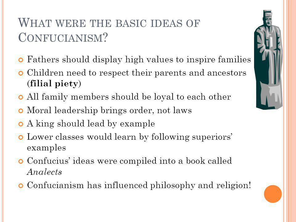 What were the basic ideas of Confucianism