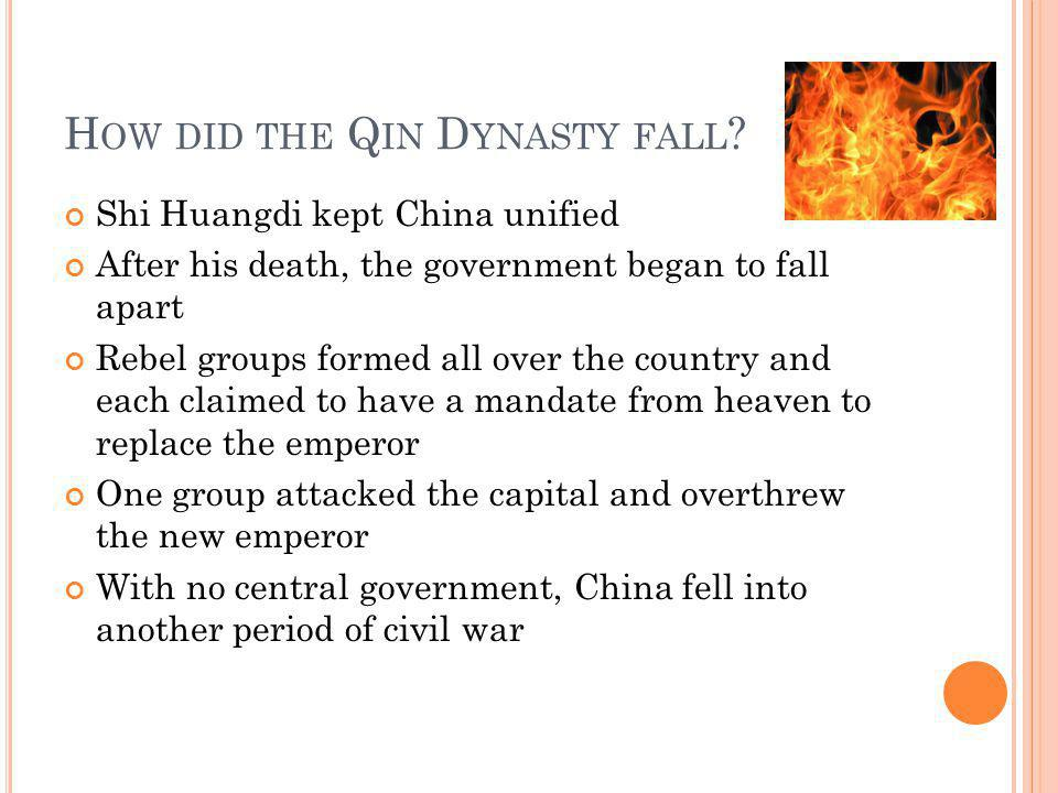 How did the Qin Dynasty fall