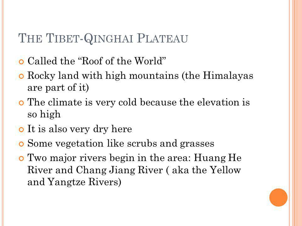 The Tibet-Qinghai Plateau