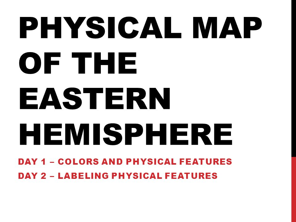 Physical Map of the Eastern Hemisphere
