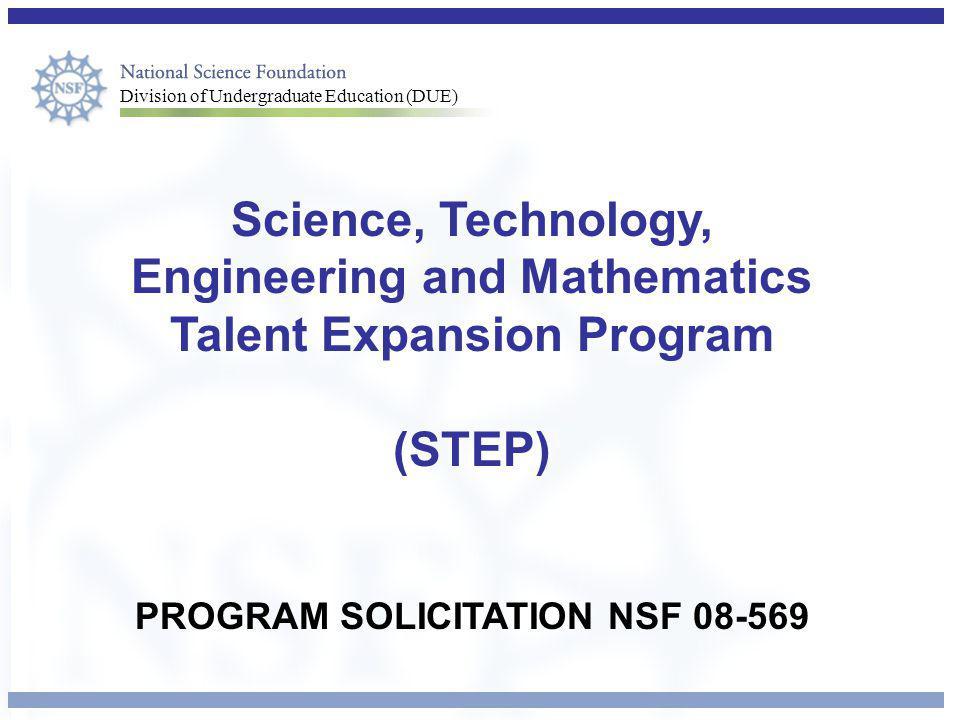 PROGRAM SOLICITATION NSF 08-569