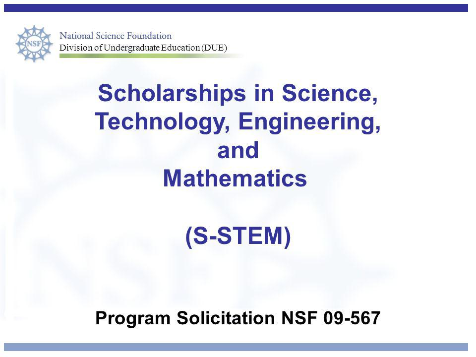 Scholarships in Science, Technology, Engineering, and Mathematics
