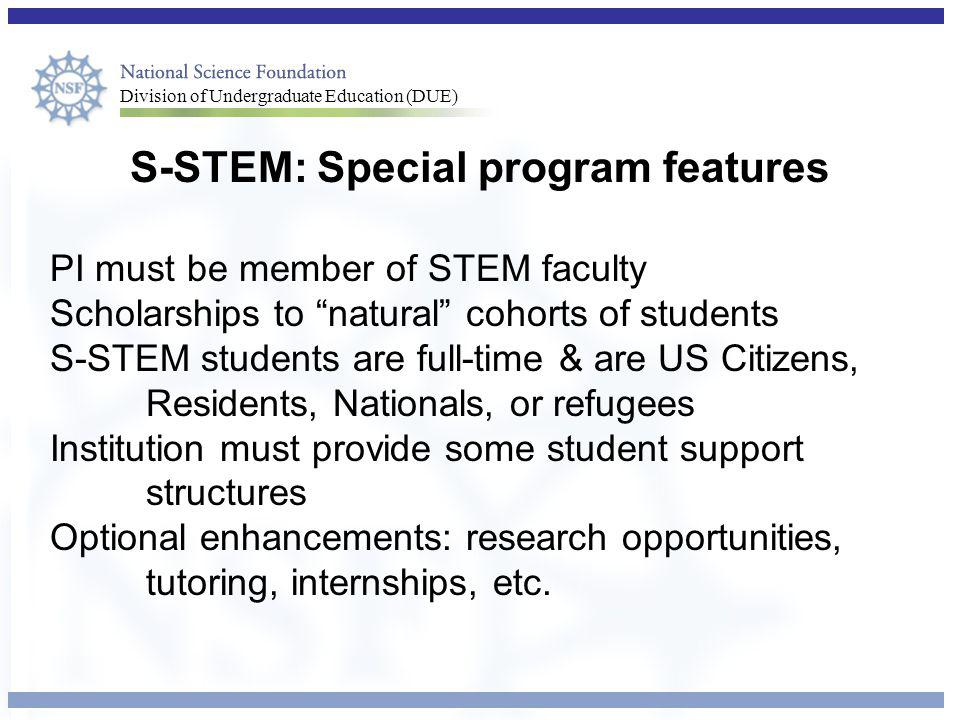 S-STEM: Special program features