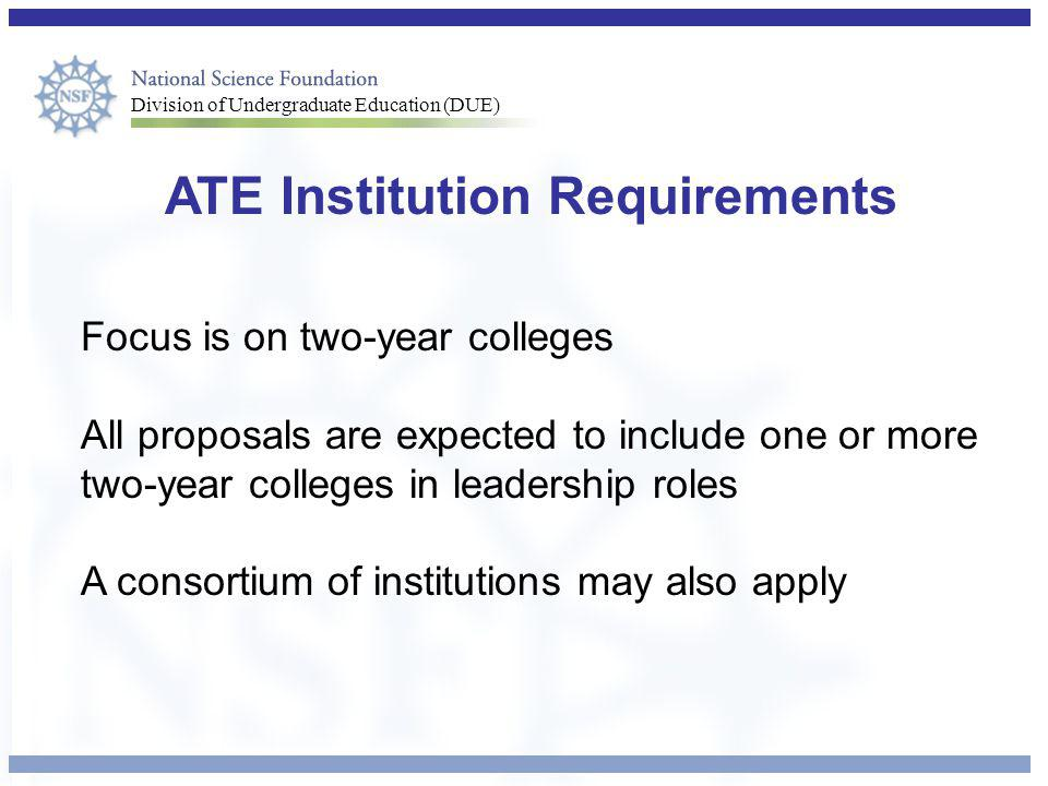 ATE Institution Requirements