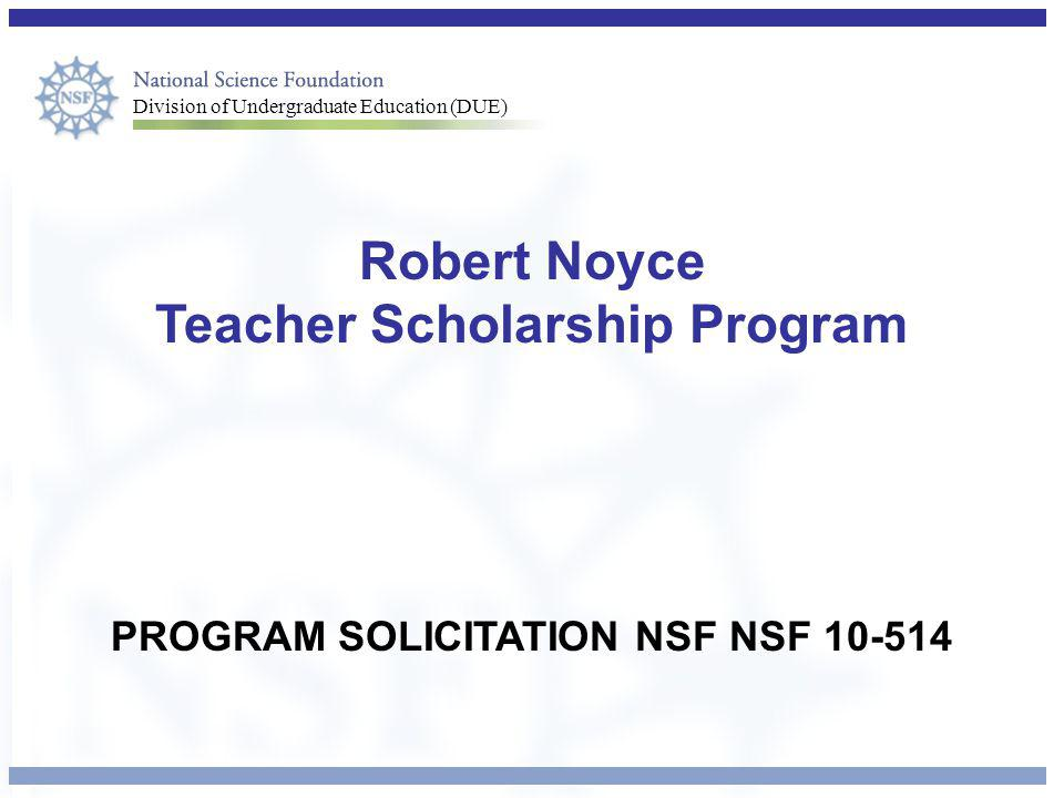 Robert Noyce Teacher Scholarship Program