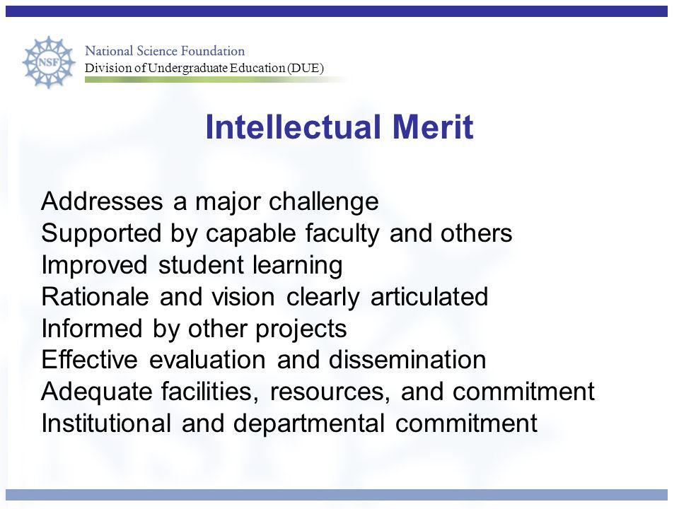 Intellectual Merit Addresses a major challenge