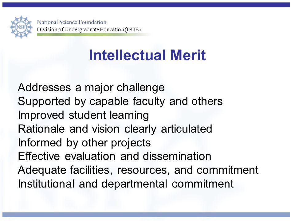 Intellectual Merit Addresses a major challenge