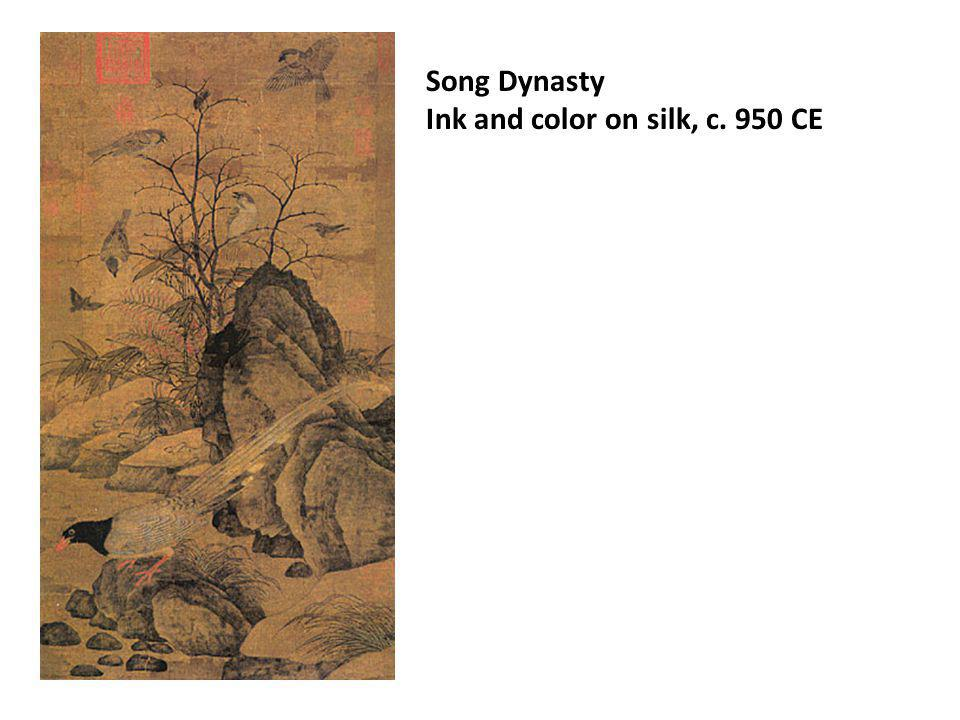 Song Dynasty Ink and color on silk, c. 950 CE