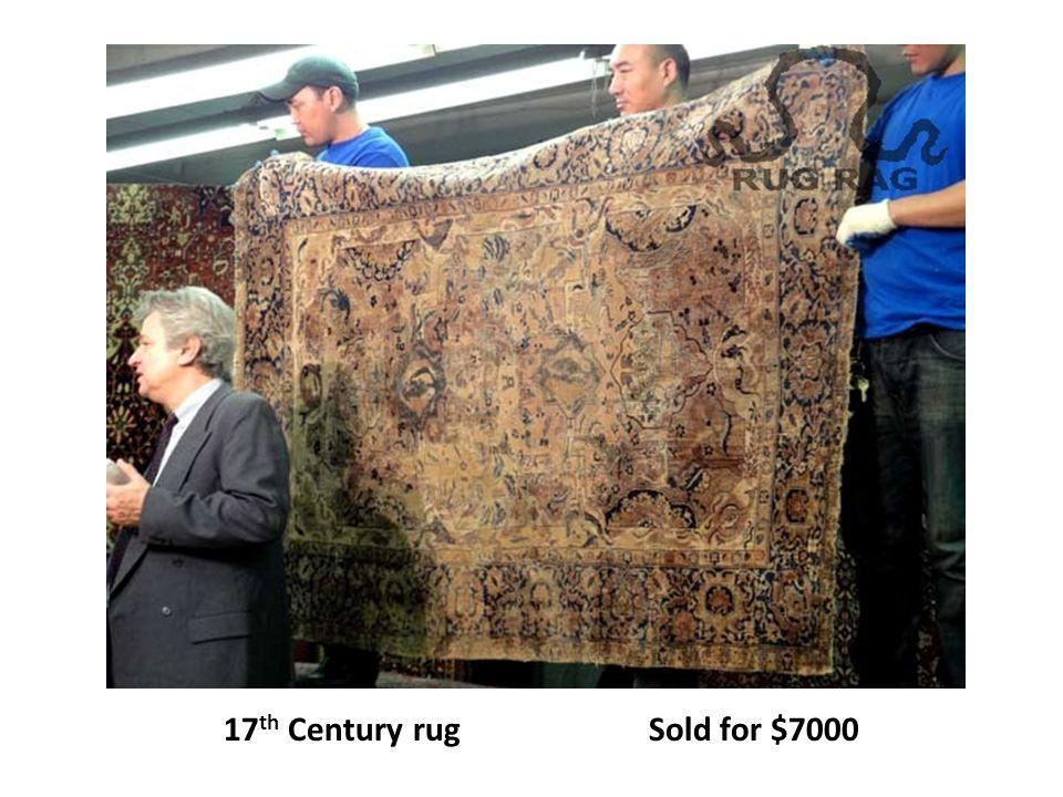 17th Century rug Sold for $7000