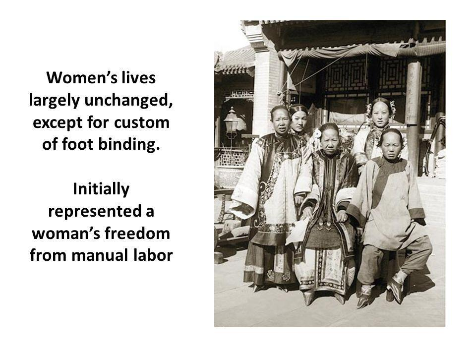 Women's lives largely unchanged, except for custom of foot binding