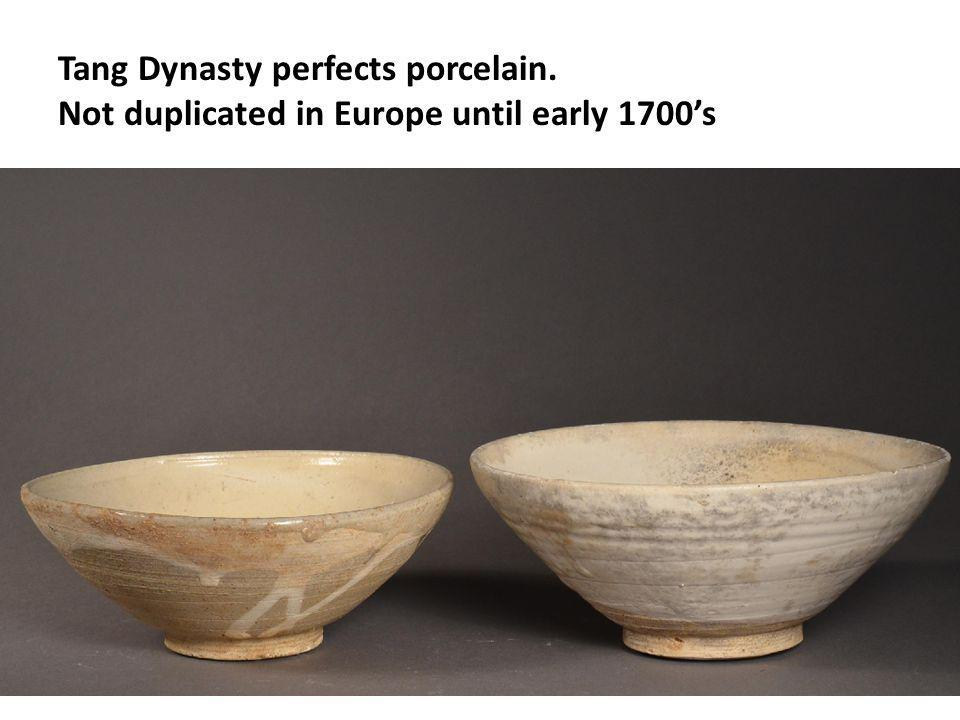 Tang Dynasty perfects porcelain.