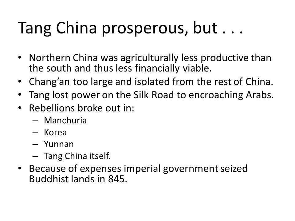 Tang China prosperous, but . . .