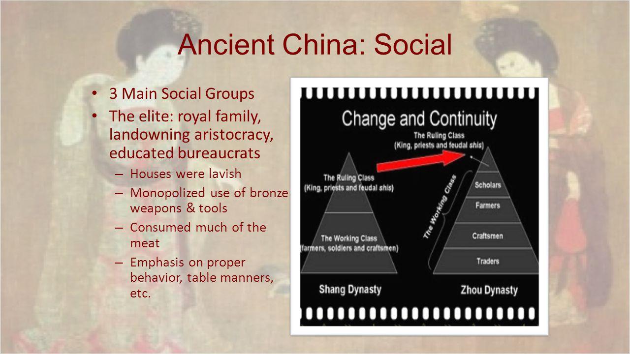 Ancient China: Social 3 Main Social Groups