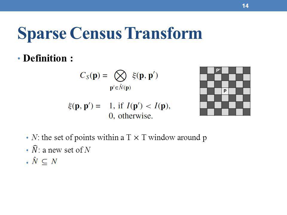 Sparse Census Transform