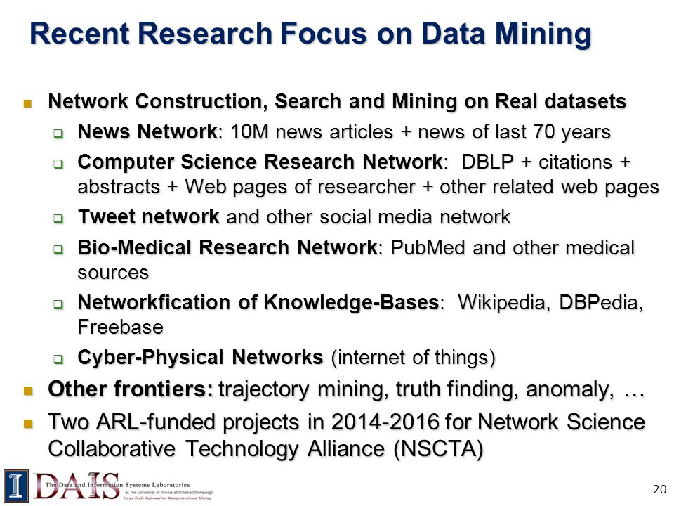 Recent Research Focus on Data Mining