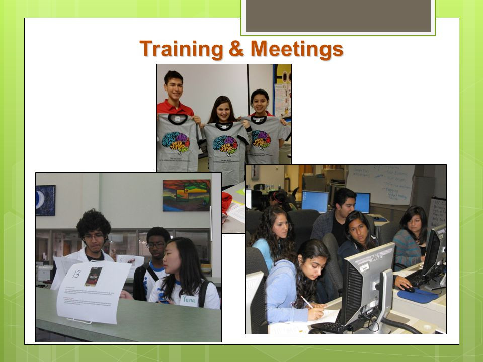 Training & Meetings