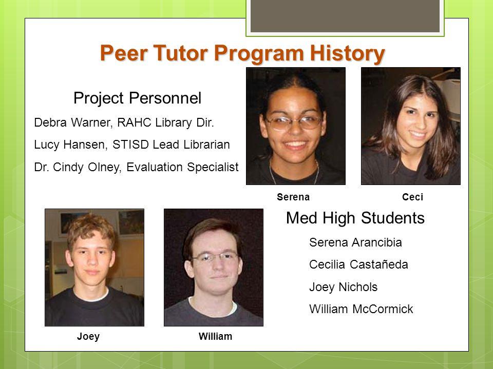Peer Tutor Program History