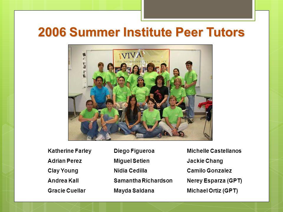 2006 Summer Institute Peer Tutors