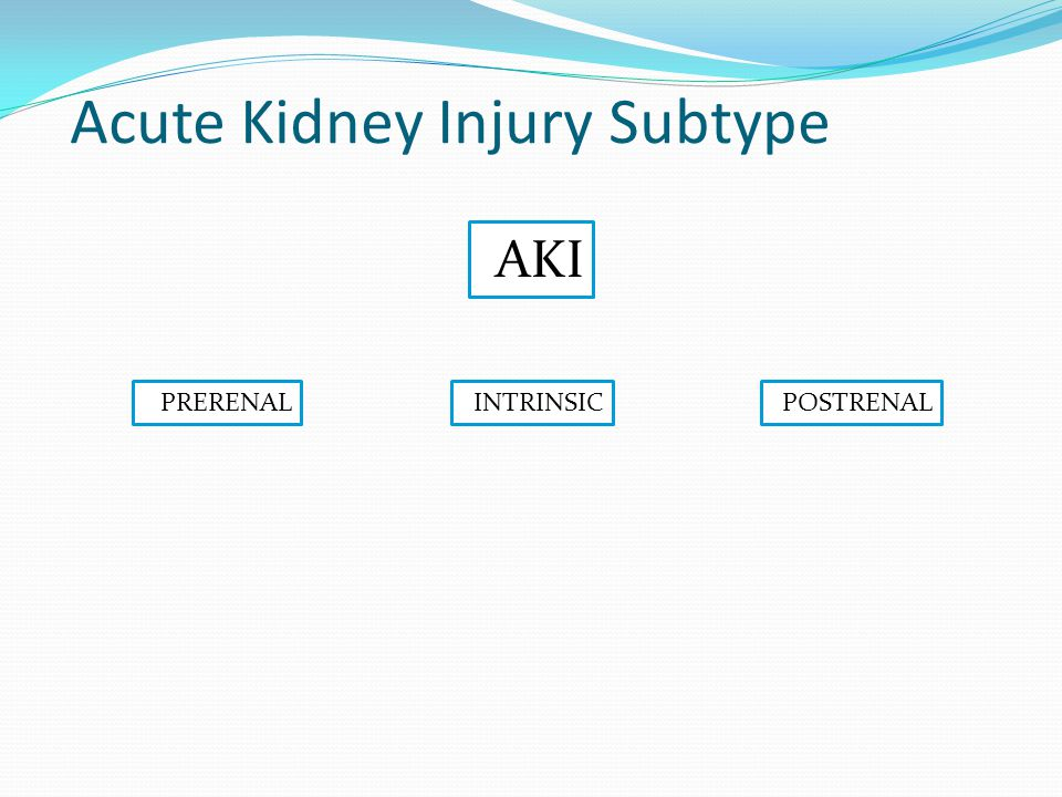 Subtype Acute Kidney Injury