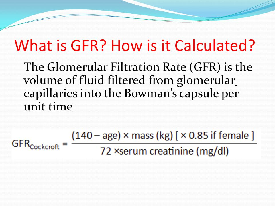 What is GFR How is it Calculated