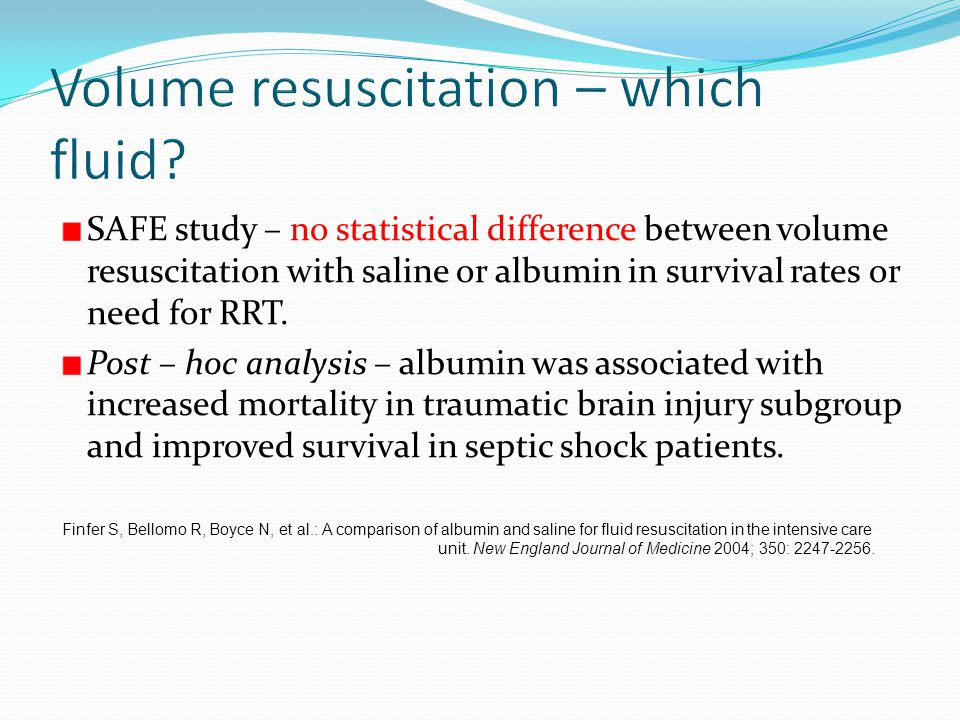 Volume resuscitation – which fluid