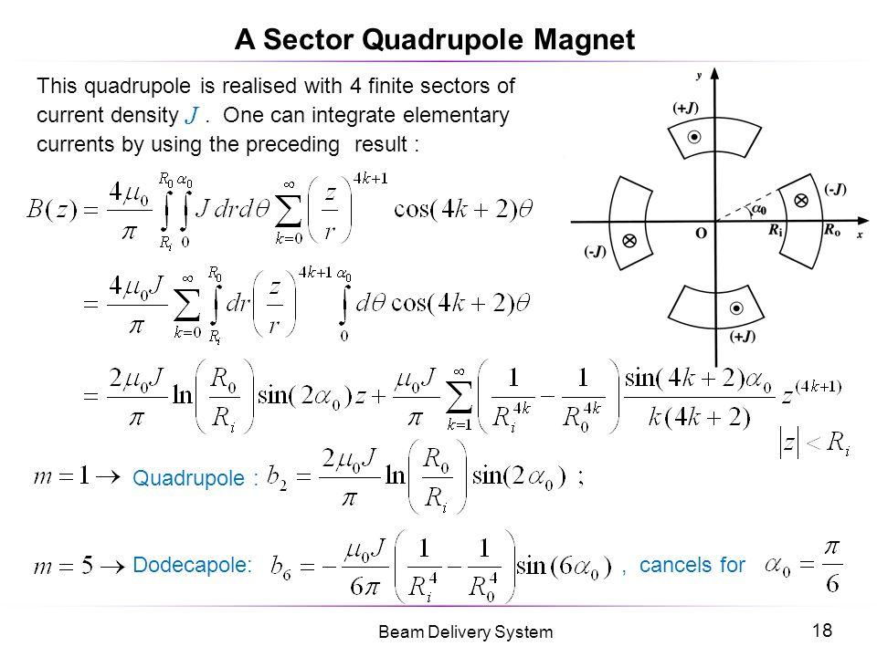 A Sector Quadrupole Magnet