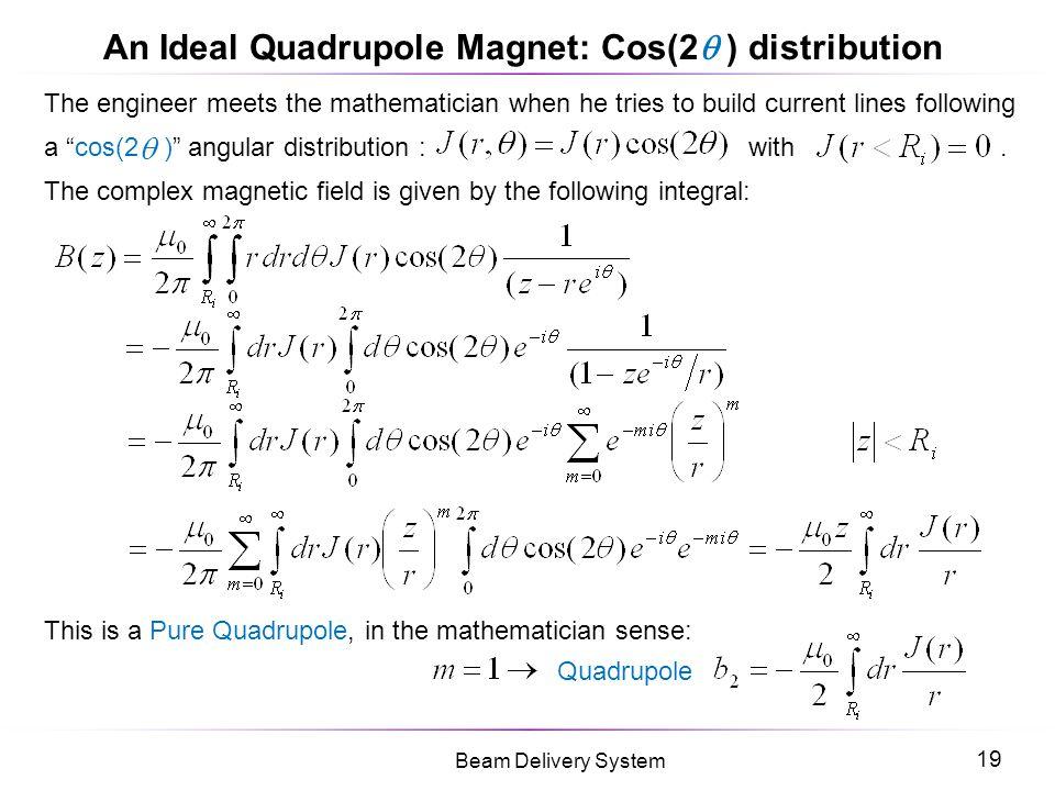 An Ideal Quadrupole Magnet: Cos(2 ) distribution