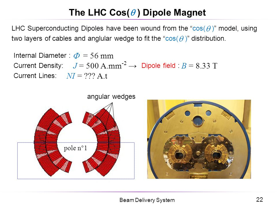 The LHC Cos( ) Dipole Magnet