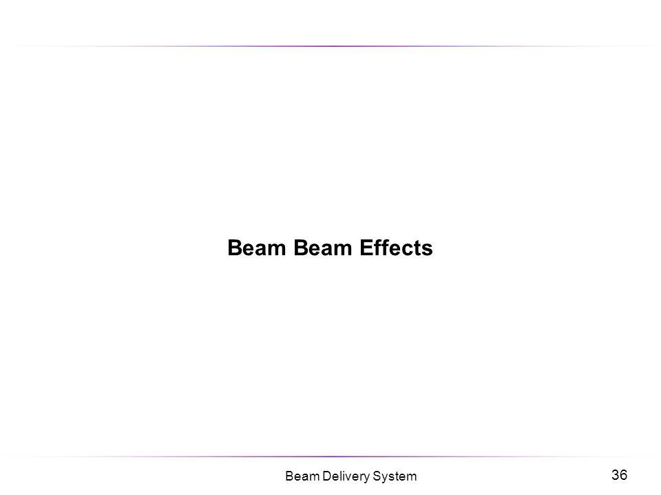 Beam Beam Effects