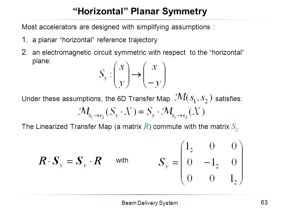 Horizontal Planar Symmetry