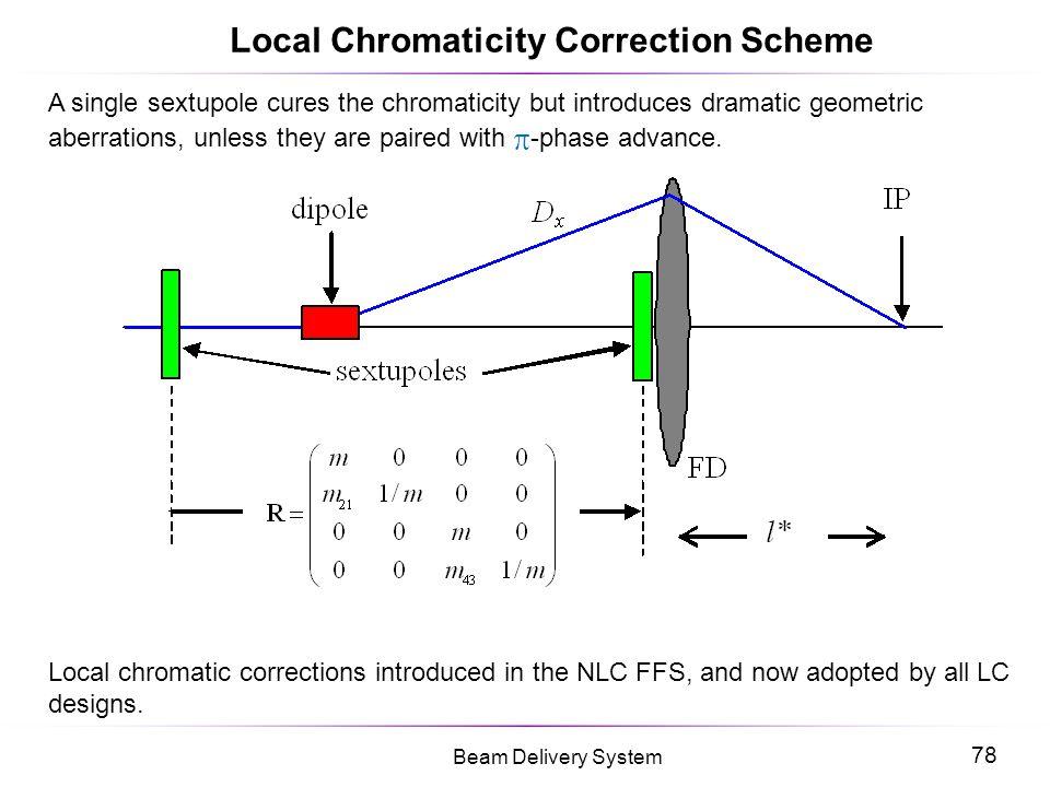 Local Chromaticity Correction Scheme