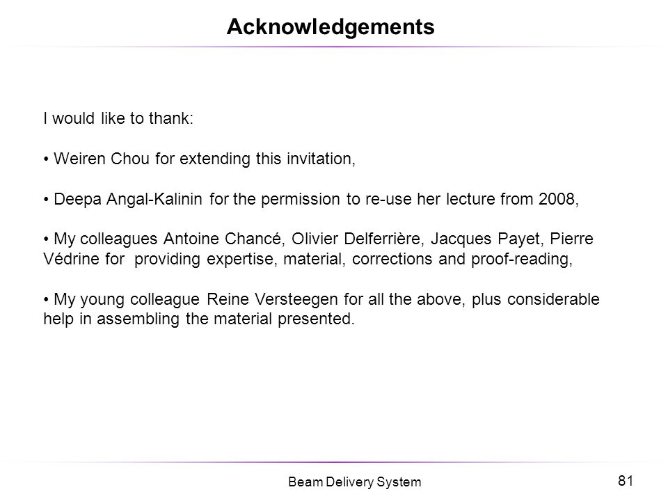 Acknowledgements I would like to thank: