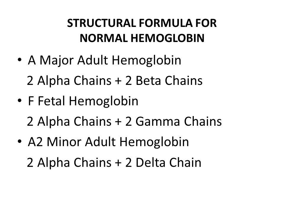 STRUCTURAL FORMULA FOR NORMAL HEMOGLOBIN