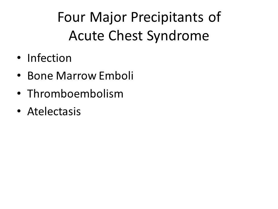 Four Major Precipitants of Acute Chest Syndrome