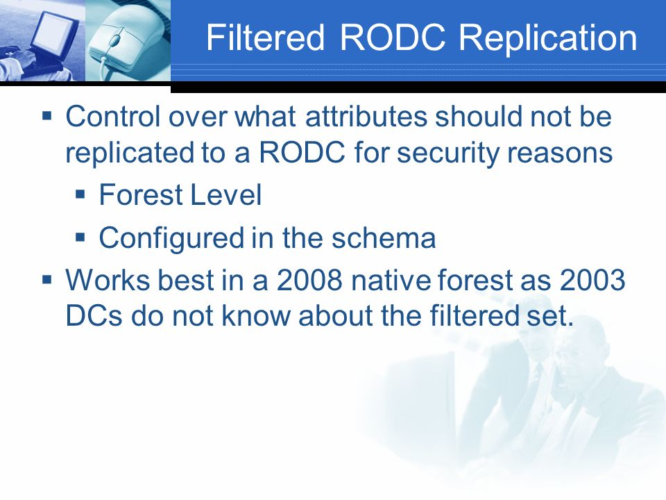 Filtered RODC Replication