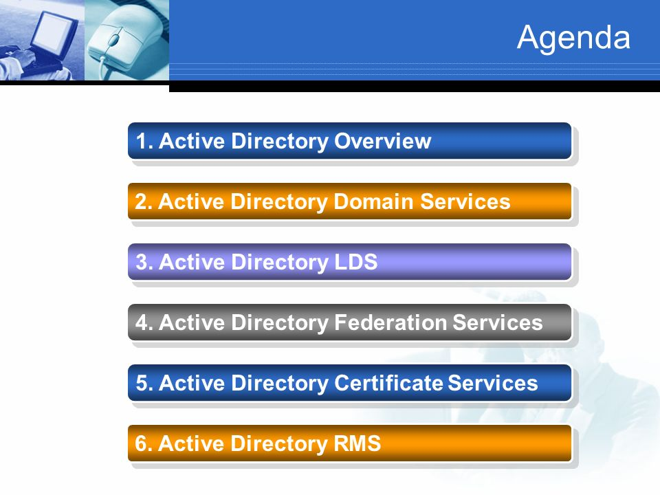 Agenda 1. Active Directory Overview