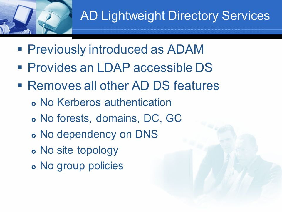 AD Lightweight Directory Services