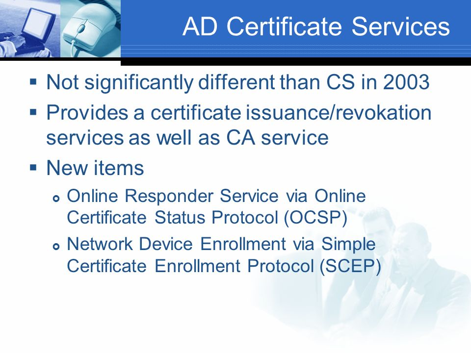 AD Certificate Services