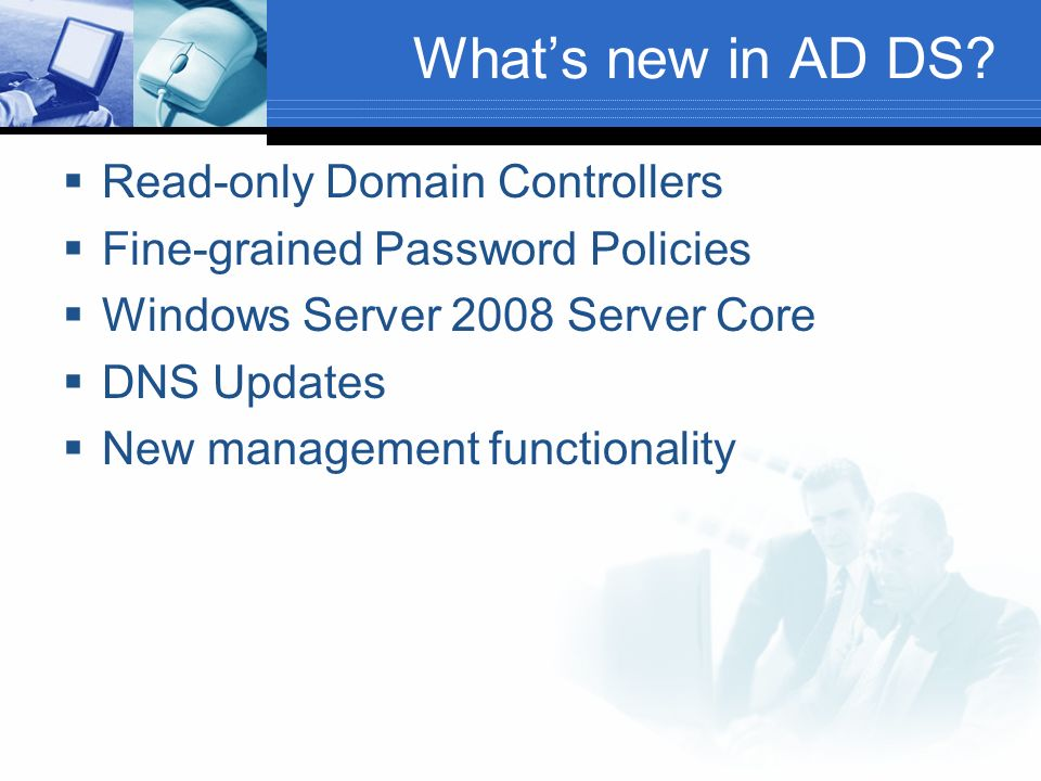 What's new in AD DS Read-only Domain Controllers