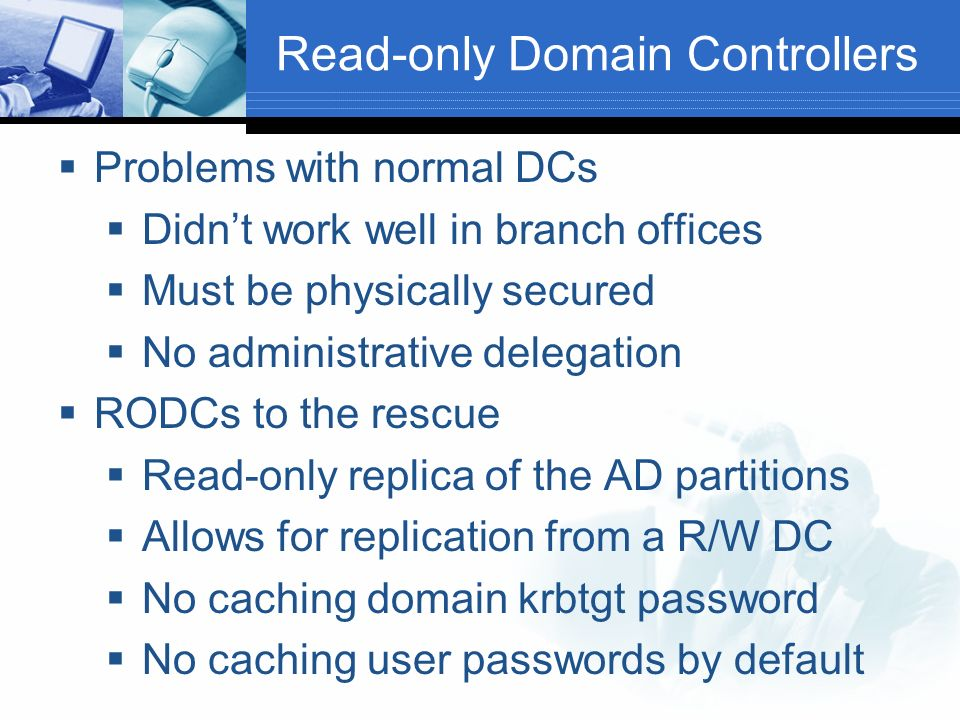Read-only Domain Controllers