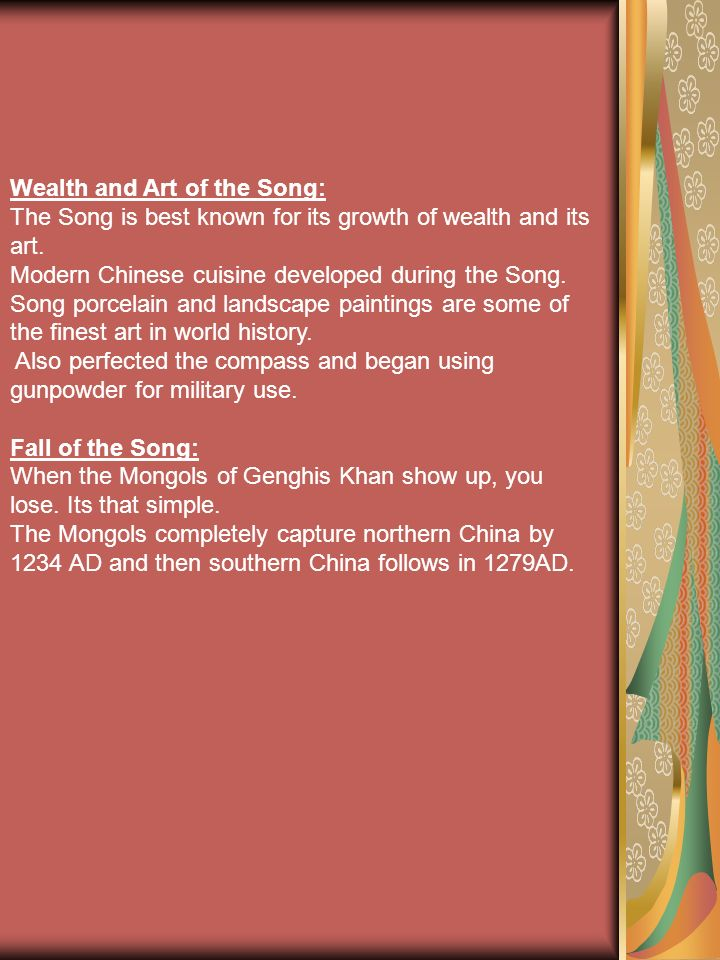 Wealth and Art of the Song: