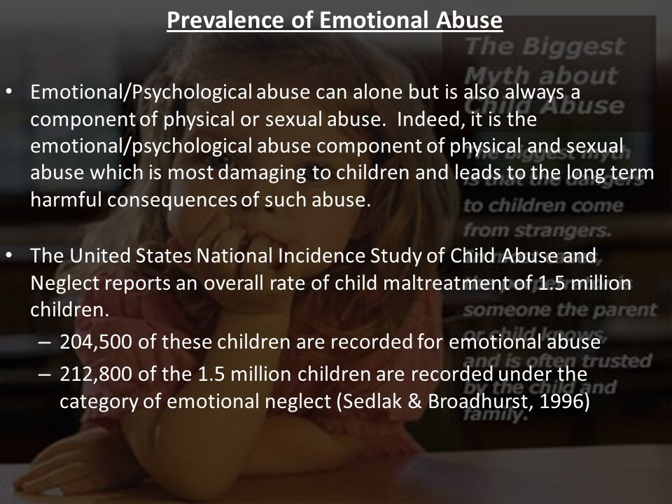 Prevalence of Emotional Abuse