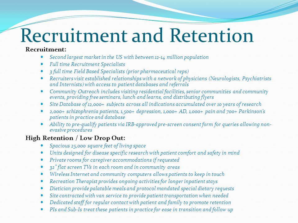 Recruitment and Retention
