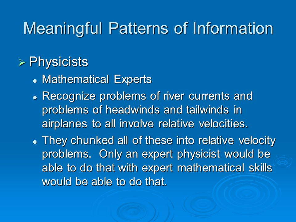 Meaningful Patterns of Information