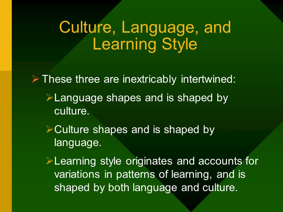Culture, Language, and Learning Style