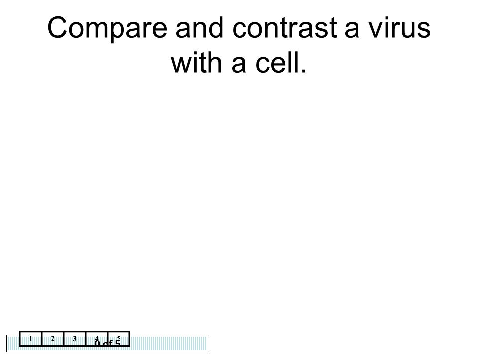 Compare and contrast a virus with a cell.