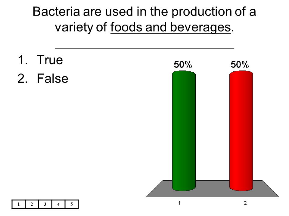 Bacteria are used in the production of a variety of foods and beverages. _________________________