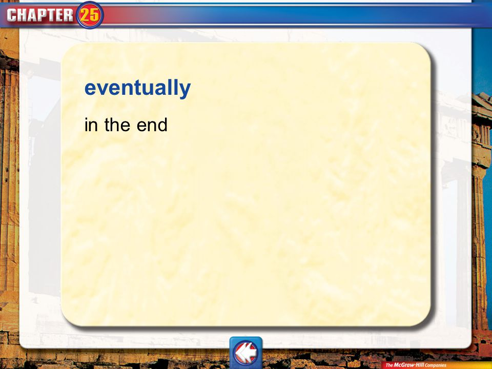 eventually in the end Vocab13