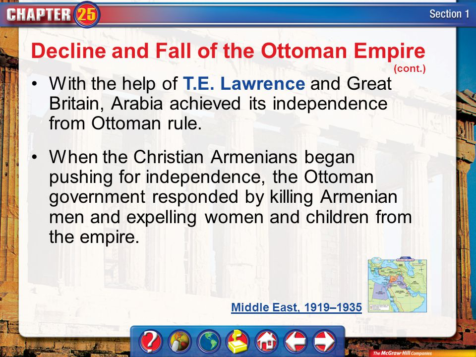 Decline and Fall of the Ottoman Empire (cont.)