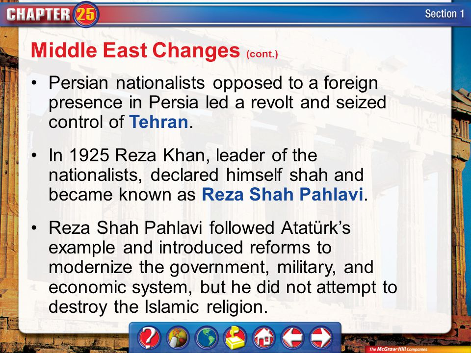 Middle East Changes (cont.)